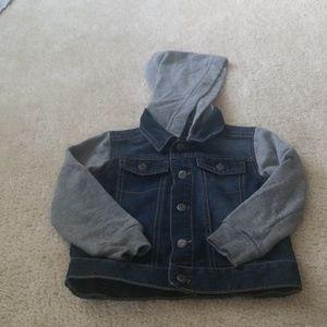 Arizona denim jacket with hoodie